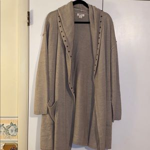 Style & Co long hooded cardigan